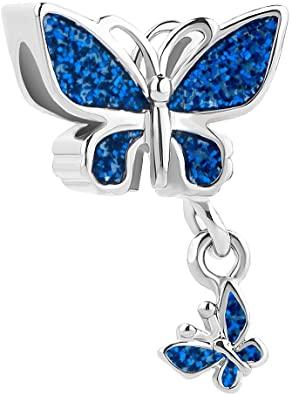 Sky Blue Butterfly Enamel Pandora Charm