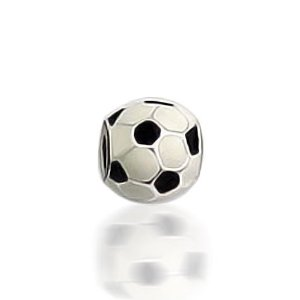 Soccer Ball Chamilia Bead