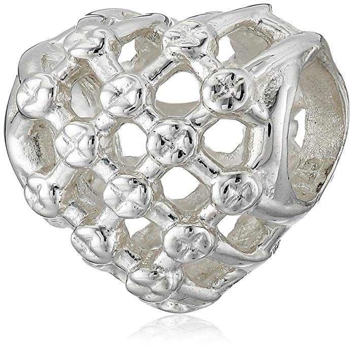Swarovski Crystal Heart Pandora Charm