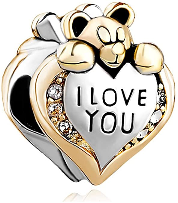 Teddy Bear Heart Love Pandora Charm